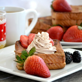 Strawberry Stuffed Mocha French Toast