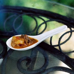 Shrimp Cognac and Andouille Grits