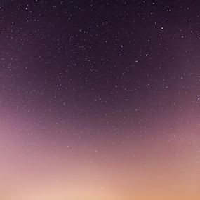Resting. by Michael Tan - Landscapes Starscapes ( sky, paddyfields, stars, malaysia, harvester )