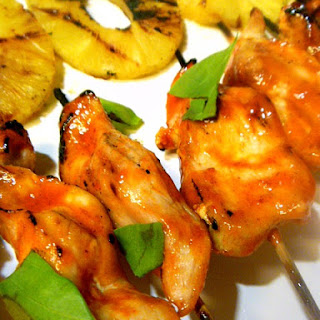 Spicy Thai Chicken Satay with Grilled Pineapple
