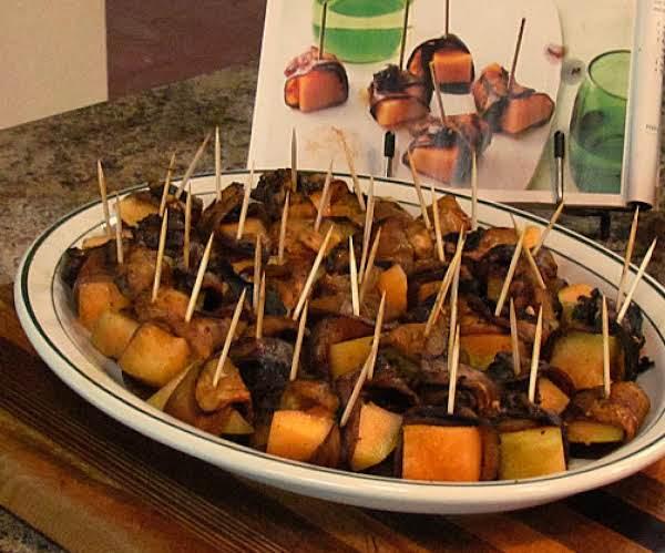 Smoky Eggplant And Melon Wraps Recipe