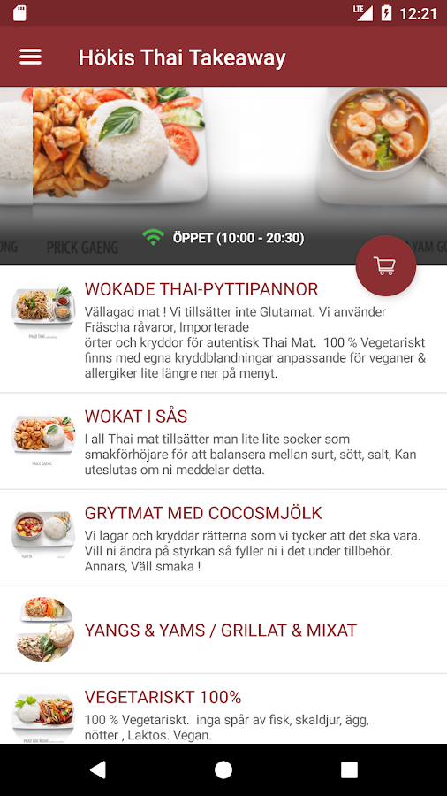 Hökis Thai- screenshot