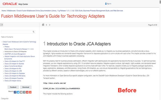Oracle Docs Font Changer