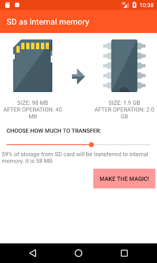 how to change internal storage to sd card