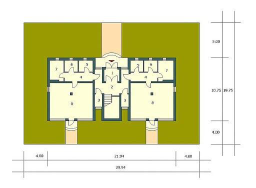 Budynek wielorodzinny-MDM6 - Sytuacja