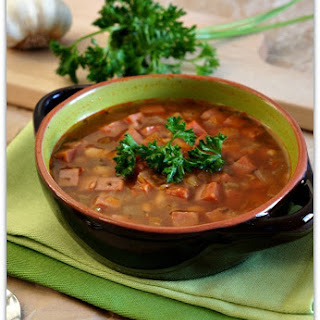 Recipe for Slow Cooker Ham, Bean and Lentil Soup