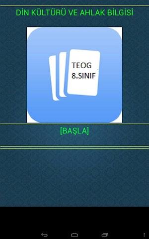 android DİN KÜLTÜRÜ (TEOG) 8.SINIF Screenshot 0