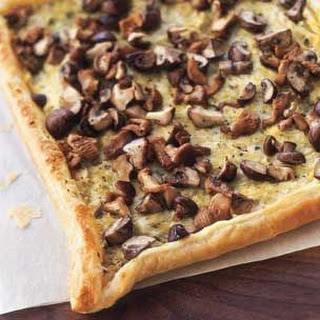 Goat Cheese, Leek and Mushroom Tart