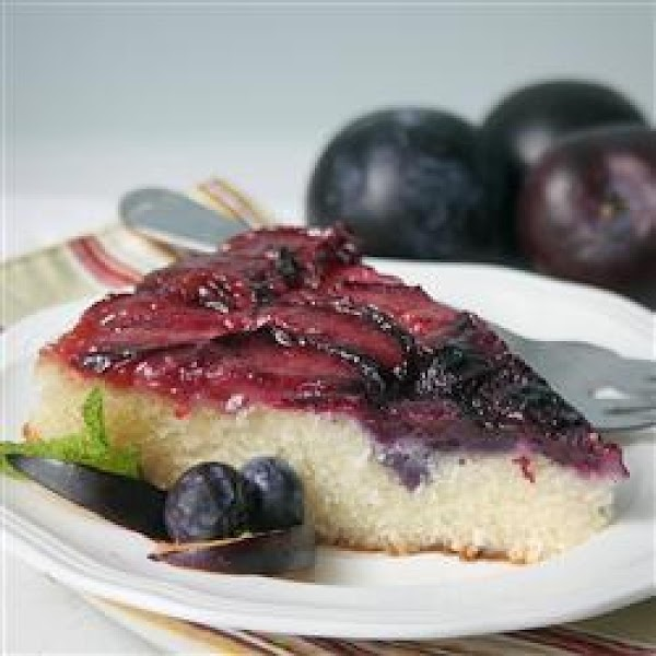 Plum Blueberry Upside Down Cake Recipe