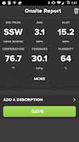 Screenshot of Wind & Weather Meter
