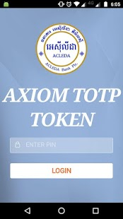 AXIOM TOTP TOKEN - náhled