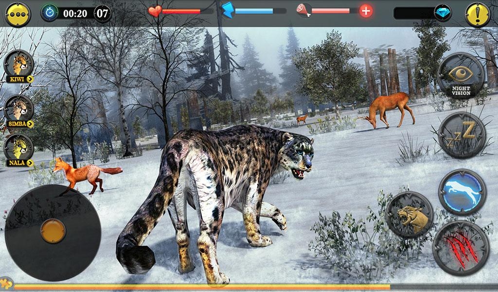 Forest Snow Leopard Sim- screenshot