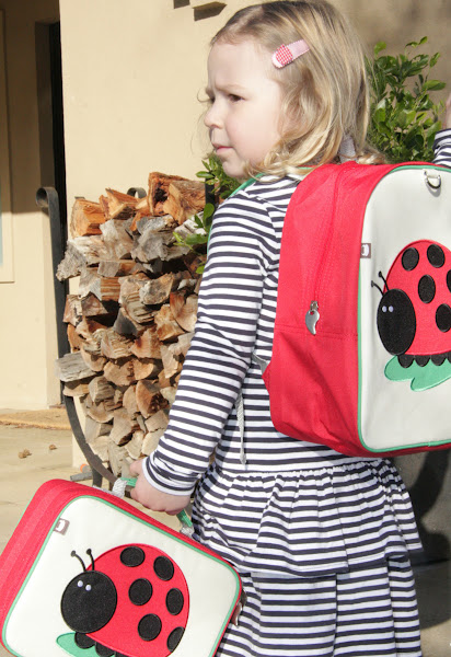 Photo: Beatrix - JuJu Ladybug lunch tote and backpack
