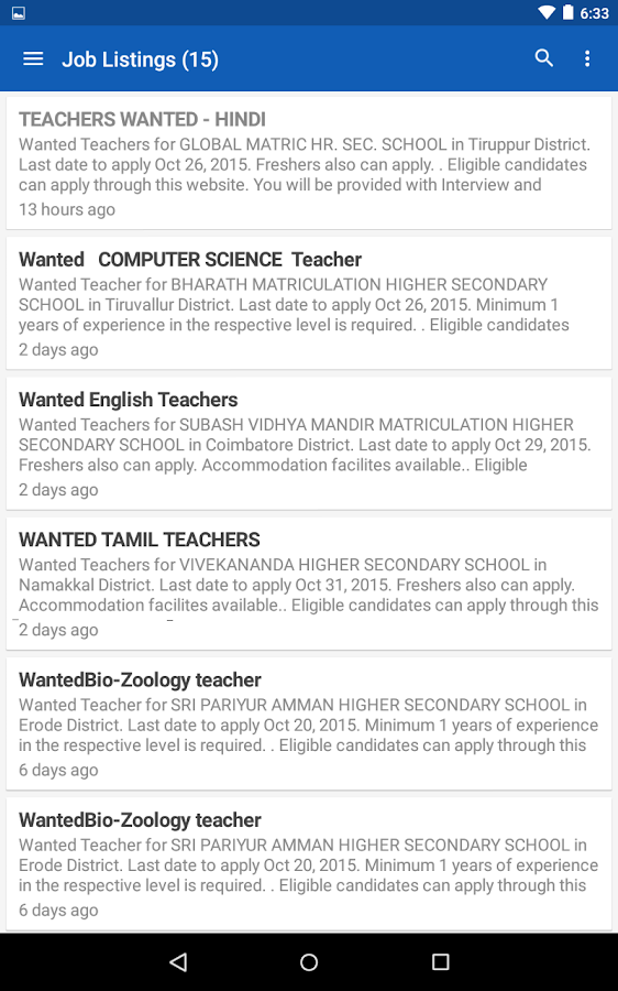 Find Teacher Post- screenshot