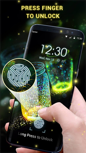 Fingerprint lock screen for prank 9.2.0.1869_master_charge_and_notification_bugfix screenshots 1