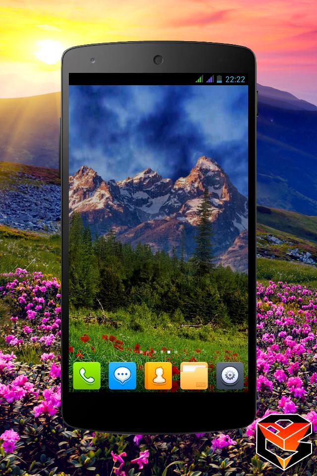 Mountain Flowers Pro Live Wallpaper Screenshot 6