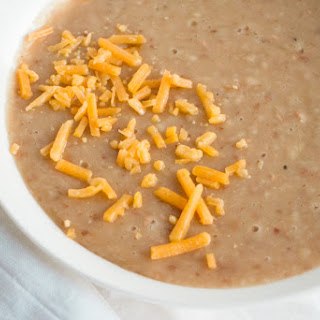 No Soaking Required Slow Cooker Refried Beans.