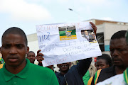 August 8, 2017. ANC supporters during a march in KwaDukuza against to vote of no confidence to President Jacob Zuma.
