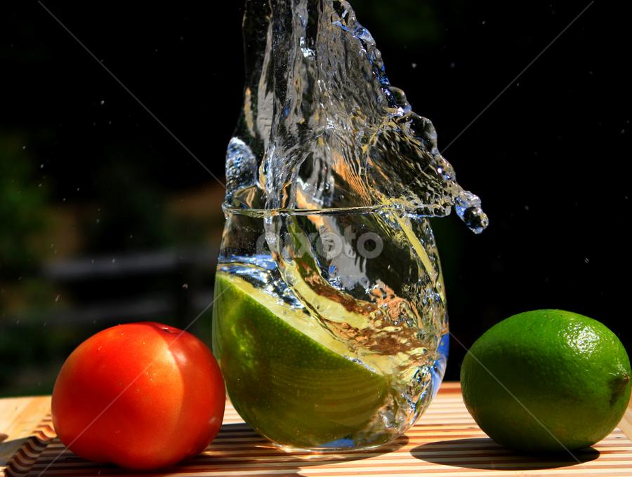 Swan Splash by Dipali S - Artistic Objects Cups, Plates & Utensils ( water, splash, vegetables, swan, tomatoes )
