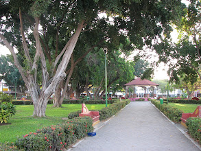 Photo: The neat park in front of the church and one block from our hotel.