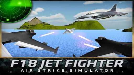 F18ジェット戦闘機のエアストライク3D