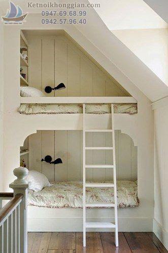 xử lý góc chết phần mái làm phòng ngủ sáng tạo