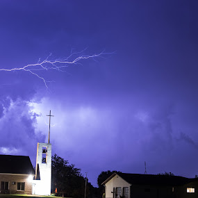 Sideways by Scott Valenzuela - Novices Only Abstract ( abstract, lightning, colors, night, storms )
