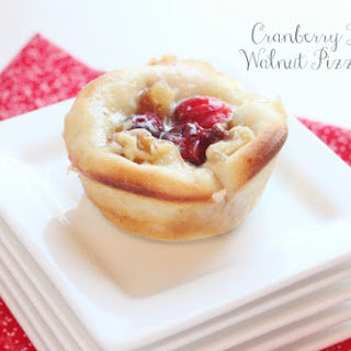 Cranberry Brie and Walnut Pizza Bites