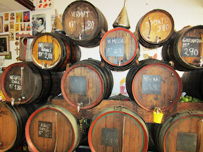 Photo: Wine by the barrel (at least a glass from the barrel)