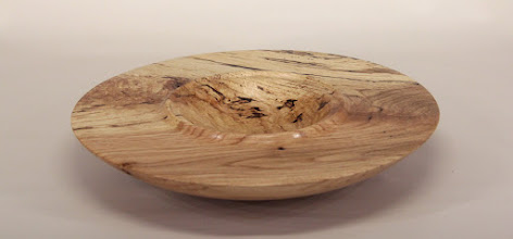 "Photo: Tim Aley 10 1/2"" x 2"" bowl [spalted oak crotch]"
