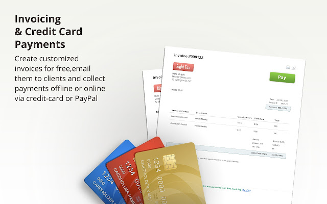 Invoicing Billing Online Payments By VCita Chrome Web Store - Free sample invoice pay amazon store card online