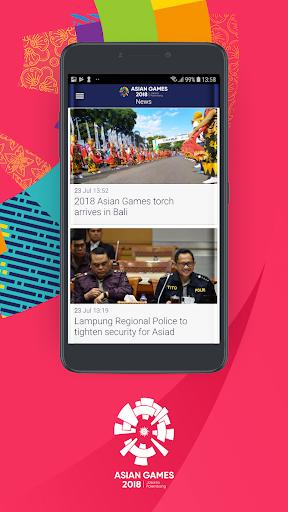 18th Asian Games 2018 Official App 1.0.2 screenshots 3