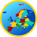 Europe map icon