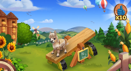 Farmville 2 mini donkey see saw