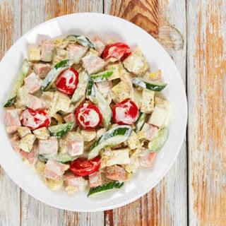 Cold Vegetable & Ham Salad.