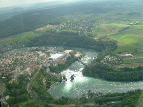 Photo: The Rhine Falls; to the left is Neuhausen am Rheinfall http://www.swiss-flight.net