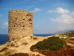 Photo: #004-Randonnée en Balagne sur le littoral Corse. Une tour génoise.