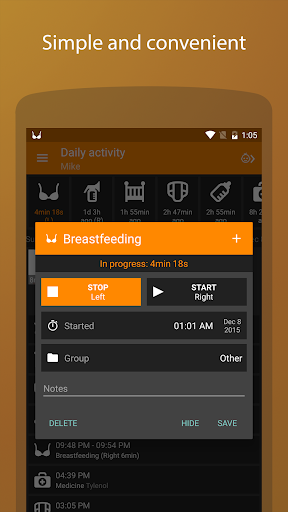 Baby Daybook - daily tracker app (apk) free download for Android/PC/Windows screenshot