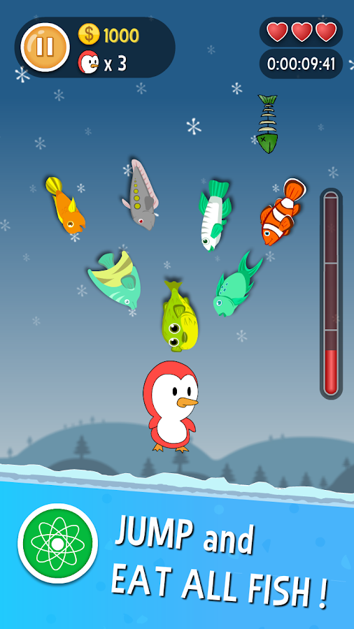 Pino Penguin Jump - Top down Arcade Game- screenshot