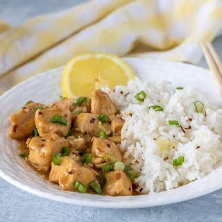 Pressure Cooker Chinese Lemon Chicken.