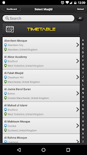 Masjid Timetable screenshot
