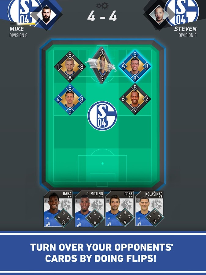 Schalke 04 Flip: official game- screenshot
