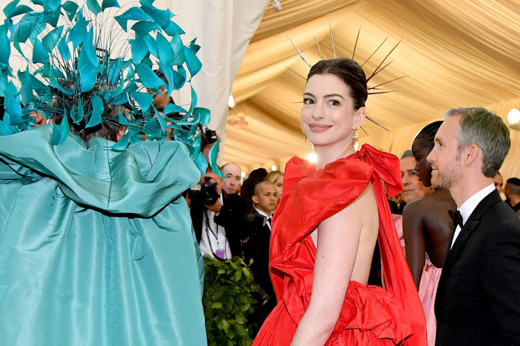 Anne Hathaway attends the Met Gala on May 7 2018 in New York City.
