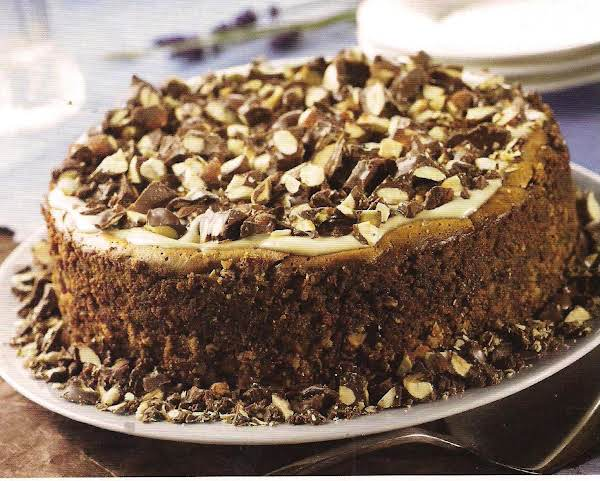 Espresso Chocolate Almond Cluster Cheesecake Recipe