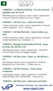 Golf Lake Como app- screenshot thumbnail