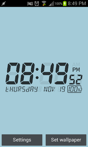 android LCD Clock Live Wallpaper Screenshot 2