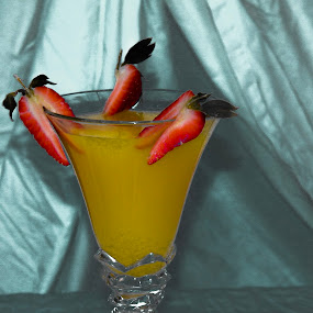 Yellow berry by Raymond Fitzgerald - Food & Drink Alcohol & Drinks ( cocktail, yellow, strawberry, juice, drink )