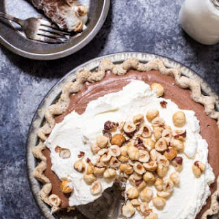 Boozy Chocolate Hazelnut Cream Pie.