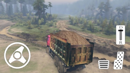 Truck Driver Operation Sand Transporter - náhled