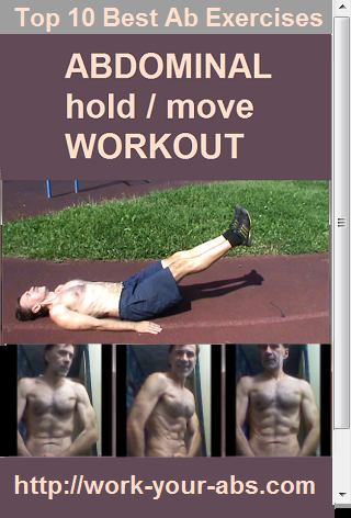 Abs workout hold then move